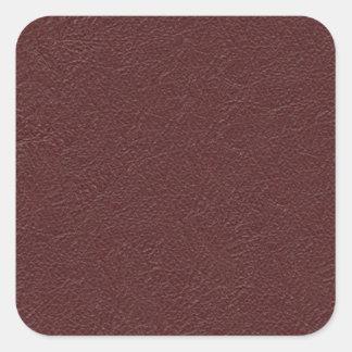 Cuero marrón pegatina cuadrada