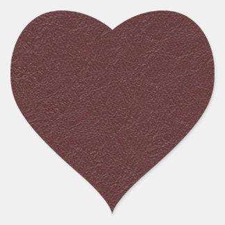 Cuero marrón pegatina en forma de corazón