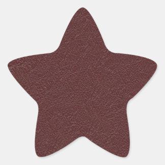 Cuero marrón pegatina en forma de estrella