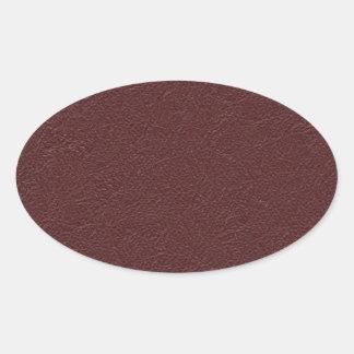 Cuero marrón pegatina ovalada