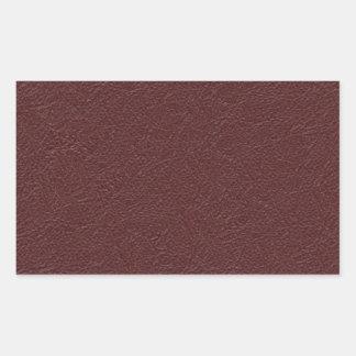 Cuero marrón pegatina rectangular