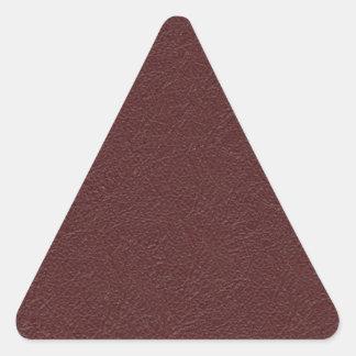 Cuero marrón pegatina triangular