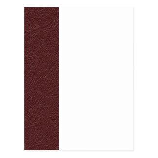 Cuero marrón postales