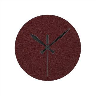 Cuero marrón reloj redondo mediano