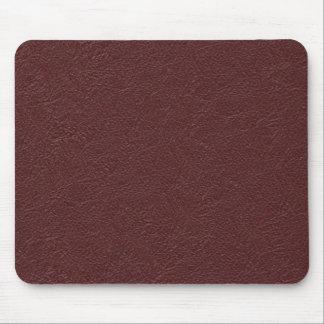 Cuero marrón tapete de ratones