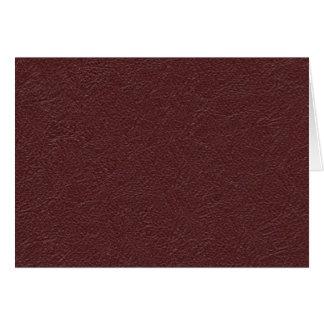 Cuero marrón tarjeta de felicitación