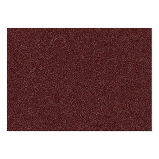 Cuero marrón tarjeta de negocio