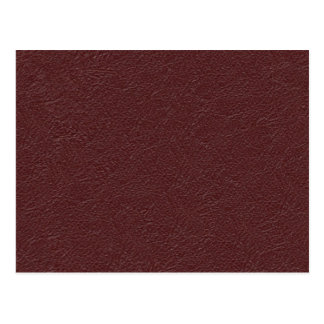 Cuero marrón tarjeta postal