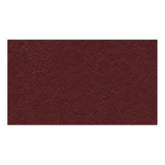 Cuero marrón tarjetas de visita