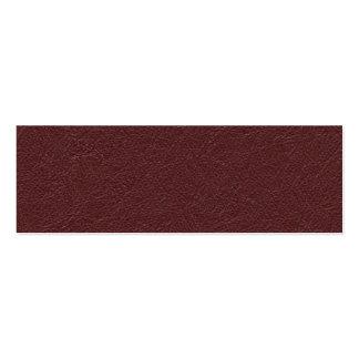 Cuero marrón tarjetas de visita mini