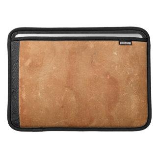Cuero marrón viejo del vintage y cubierta de libro funda macbook air