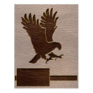 Cuero-Mirada Eagle suave Postal