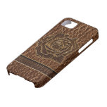 Cuero-Mirada subió iPhone 5 Case-Mate Coberturas