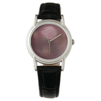 Cuero negro clásico de la cebolla relojes de mano