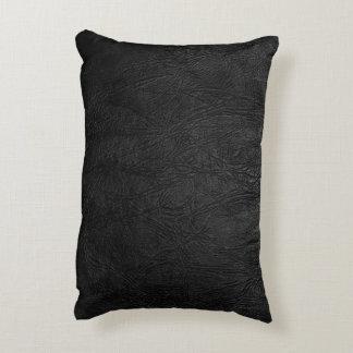 Cuero negro de Digitaces Cojín Decorativo