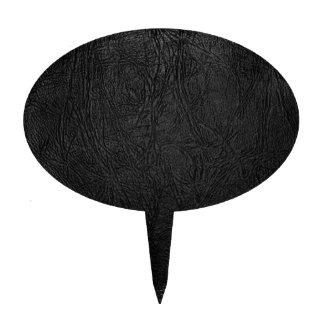 Cuero negro de Digitaces Decoración Para Tarta