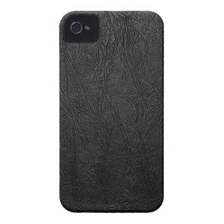 Cuero negro de Digitaces iPhone 4 Cárcasas