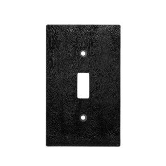Cuero negro de Digitaces Placas Para Interruptor