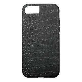 cuero negro del cocodrilo funda iPhone 7
