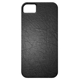 Cuero negro iPhone 5 Case-Mate fundas
