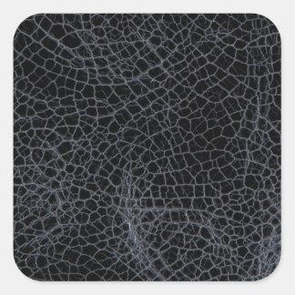Cuero negro pegatina cuadrada