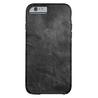 cuero negro resistido funda de iPhone 6 tough