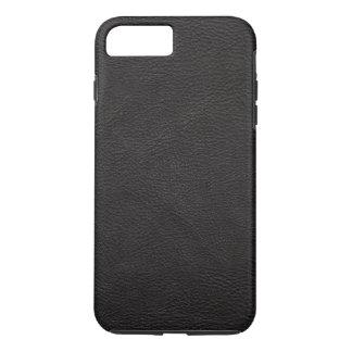 Cuero negro texturizado funda iPhone 7 plus