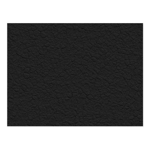 Cuero negro texturizado postales