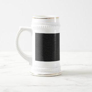 Cuero negro texturizado tazas