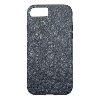 Cuero negro texturizado vintage funda iPhone 7