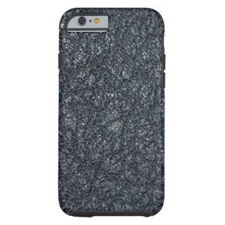 Cuero negro texturizado vintage funda resistente iPhone 6