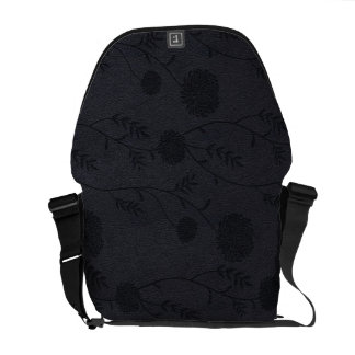 Cuero negro y bolso grabado en relieve del efecto  bolsas de mensajería