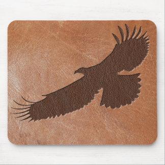 Cuero repujado de Eagle Mousepad
