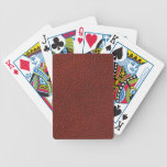 Cuero rojo baraja cartas de poker