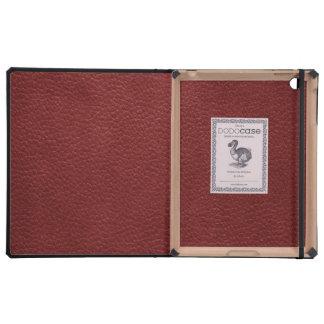 Cuero rojo del guijarro del Grunge iPad Funda