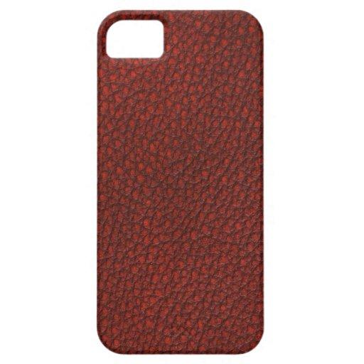 Cuero rojo iPhone 5 Case-Mate protectores