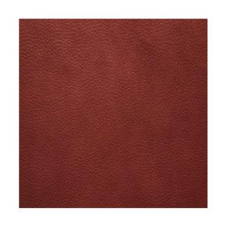 Cuero rojo oscuro de encargo retro cuadros de madera
