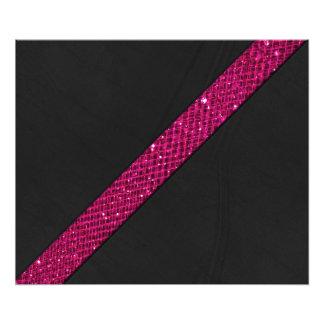 Cuero rosado del negro de la raya del efecto del impresiones fotográficas