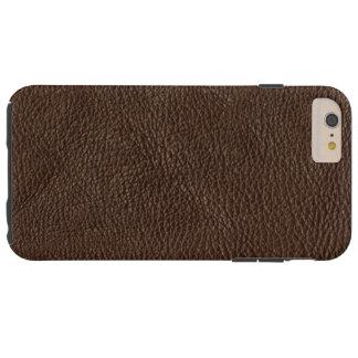 Cuero texturizado de Brown Funda Resistente iPhone 6 Plus
