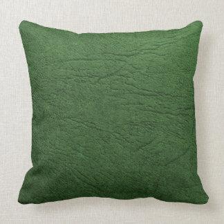 Cuero verde cojín decorativo