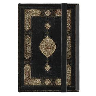 Cuero viejo y cubierta de libro fina del oro del iPad mini fundas
