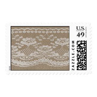 Cuero y boda del cordón timbres postales