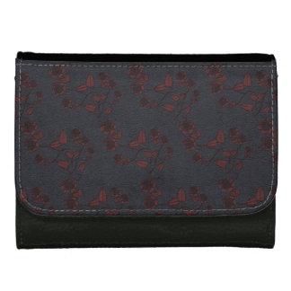 Cuero y cartera grabada en relieve efecto color de