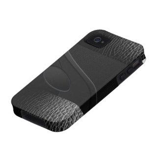 ¡Cuero y caso rellenado Kevlar del iphone 4 4S A Vibe iPhone 4 Carcasa