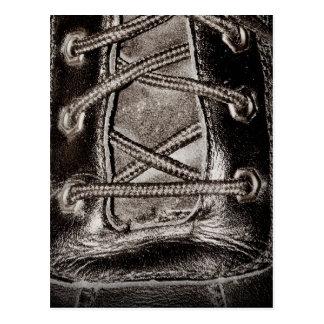 Cuero y cordones negros tarjetas postales