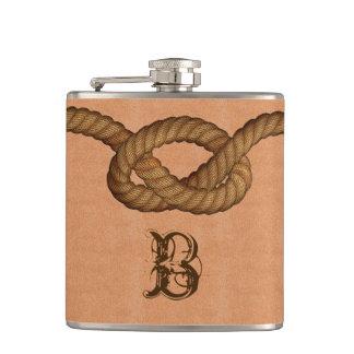 Cuero y frasco con monograma de encargo de la cuer
