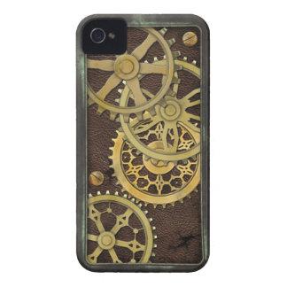 Cuero y latón de Steampunk iPhone 4 Cobertura
