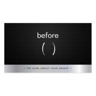 Cuerpo antes y después del instructor del coche de tarjetas personales