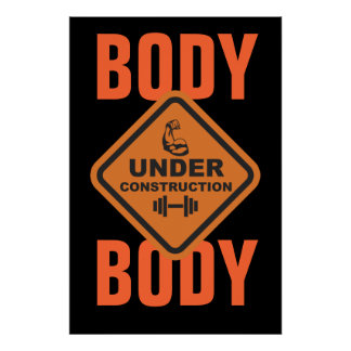 Cuerpo bajo construcción póster