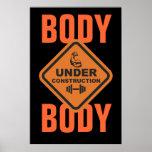 Cuerpo bajo construcción posters